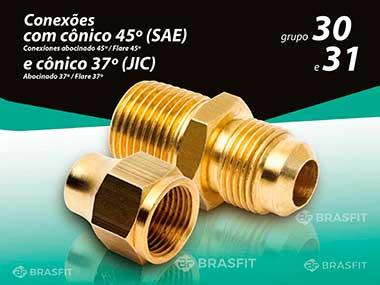 Conexões com cônico 45º(SAE) e 37º(JIC)